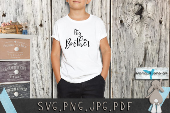 Download Free 4 Little Brother Designs Graphics for Cricut Explore, Silhouette and other cutting machines.