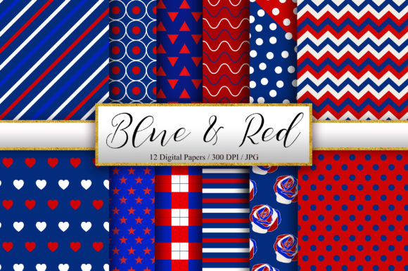 Blue and Red Pattern Background Graphic Patterns By PinkPearly