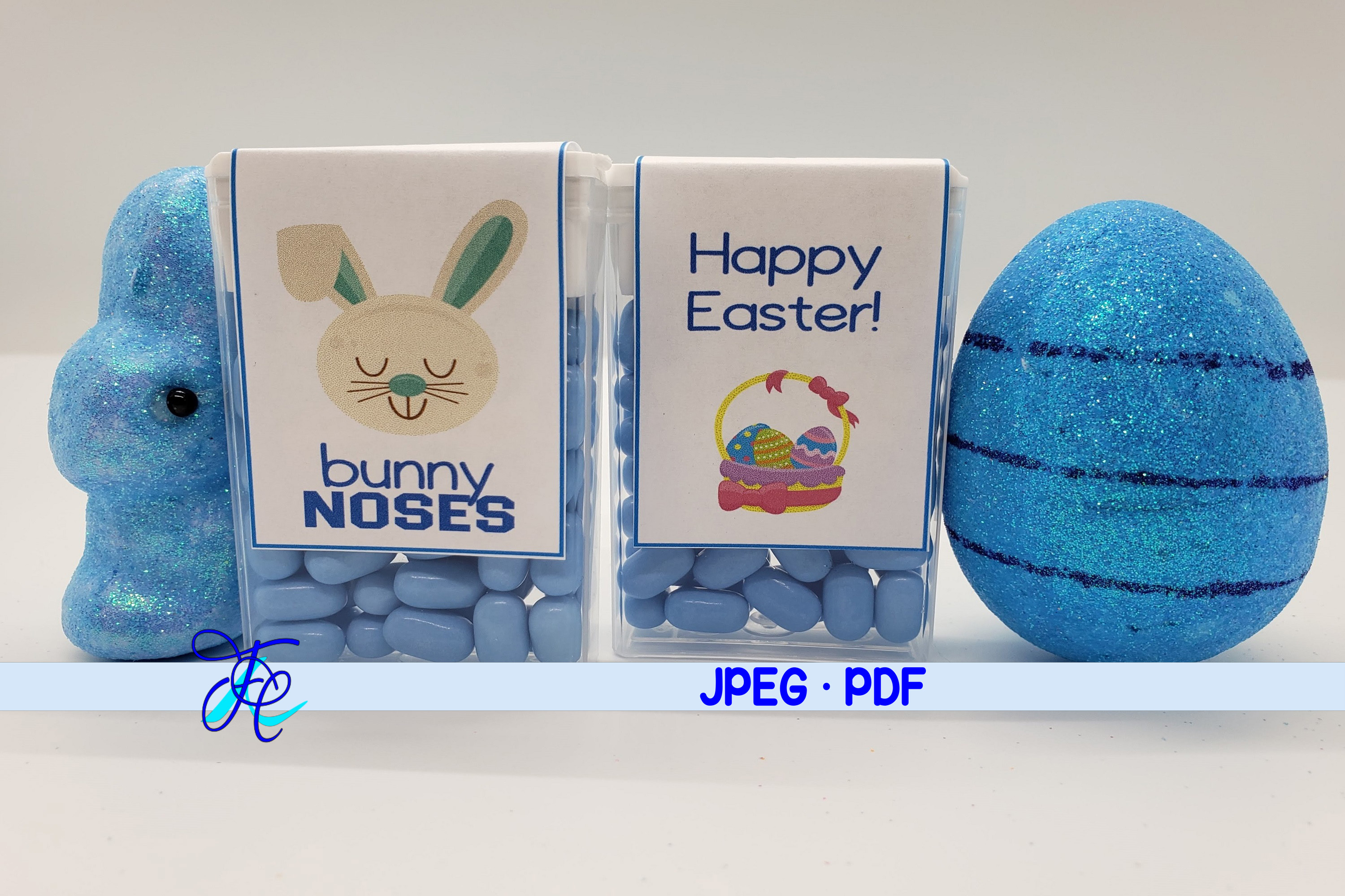 Download Free Bunny Noses Blue Tic Tac Labels Grafik Von Family Creations for Cricut Explore, Silhouette and other cutting machines.