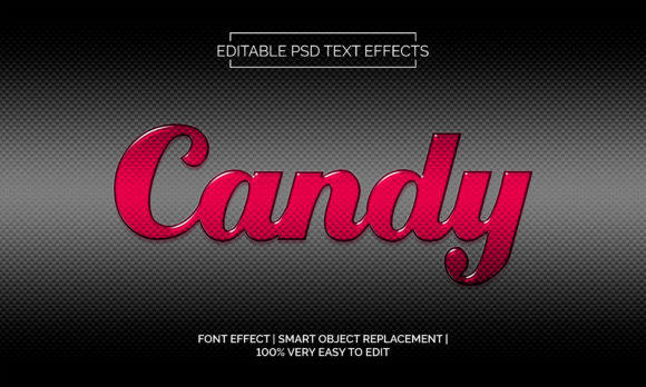 Download Free Candy Text Effects Style Graphic By Neyansterdam17 Creative for Cricut Explore, Silhouette and other cutting machines.