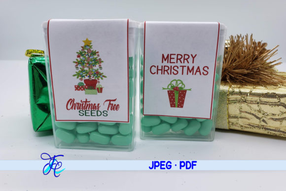 Christmas Tree Seeds - Tic Tac Labels Graphic Crafts By Family Creations