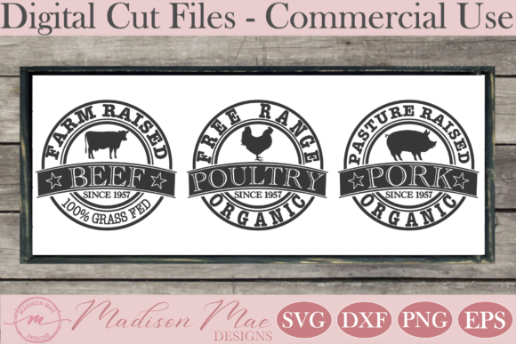 Download Free Farmhouse Sign Farm Animals Trio Graphic By Madison Mae Designs for Cricut Explore, Silhouette and other cutting machines.