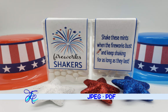 Download Free Firework Shakers Blue Tic Tac Label Graphic By Family for Cricut Explore, Silhouette and other cutting machines.