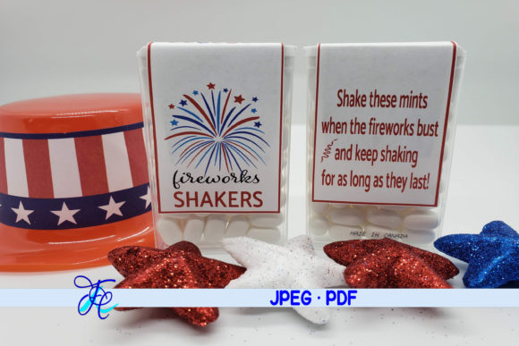 Download Free Firework Shakers Red Tic Tac Labels Graphic By Family for Cricut Explore, Silhouette and other cutting machines.