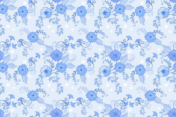 Download Free Flowers And Leaves On Blue Background Graphic By Ranger262 for Cricut Explore, Silhouette and other cutting machines.