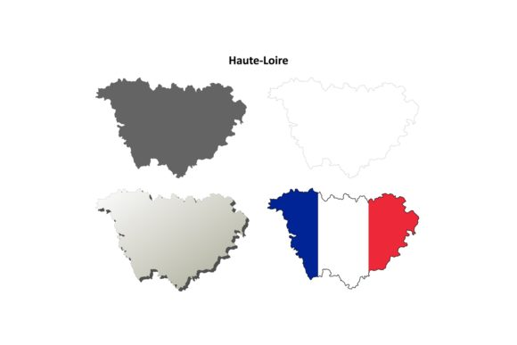 Download Free Haute Loire Outline Map Set Graphic By Davidzydd Creative Fabrica for Cricut Explore, Silhouette and other cutting machines.