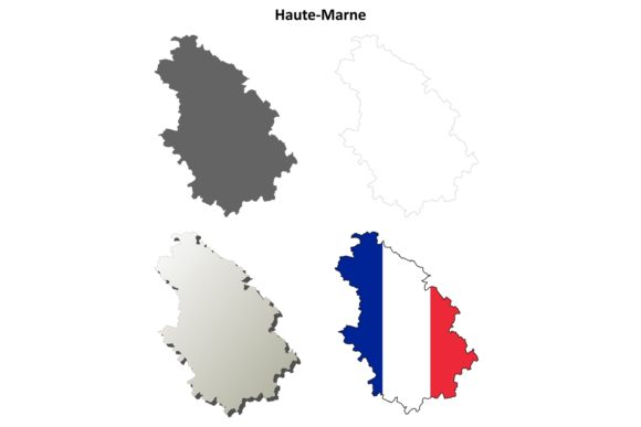 Download Free Haute Marne Outline Map Set Graphic By Davidzydd Creative Fabrica for Cricut Explore, Silhouette and other cutting machines.