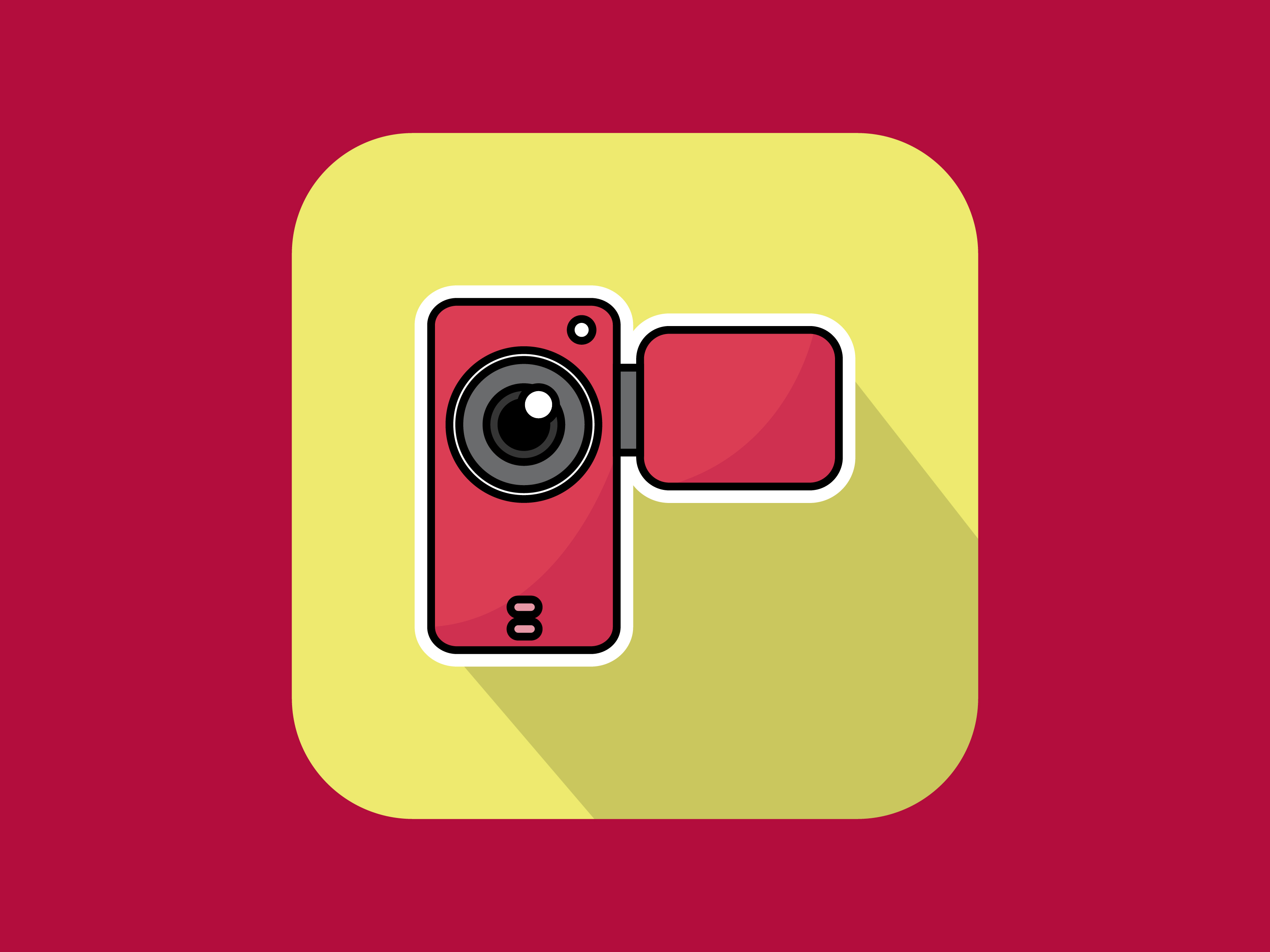Download Free Icon Handycam Video Modern Outline Graphic By Meandmydate for Cricut Explore, Silhouette and other cutting machines.