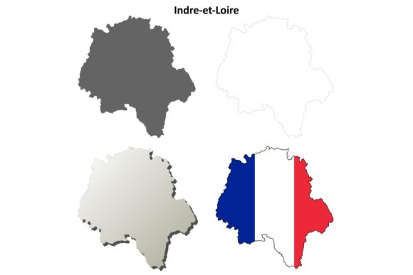 Download Free Indre Et Loire Outline Map Set Graphic By Davidzydd Creative for Cricut Explore, Silhouette and other cutting machines.