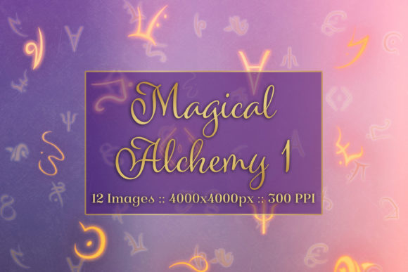 Print on Demand: Magical Alchemy 1 - Background Images Graphic Backgrounds By SapphireXDesigns