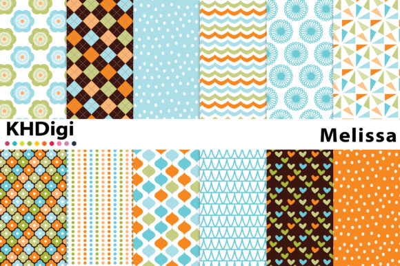 Melissa Digital Paper Graphic By Khdigi Creative Fabrica
