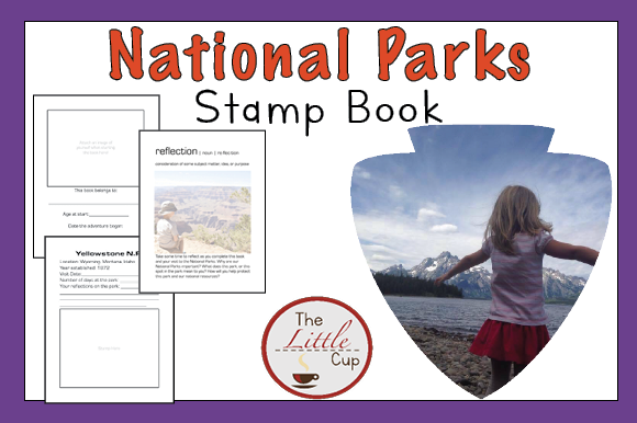 National Parks Stamp Book (U.S. History) Graphic Teaching Materials By marie9