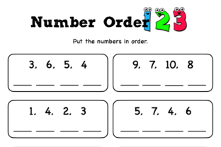 Number Order Graphic K By Lory's Kindergarten Resources!