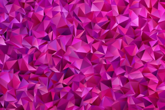 Purple Chaotic Triangle Background Graphic By Davidzydd