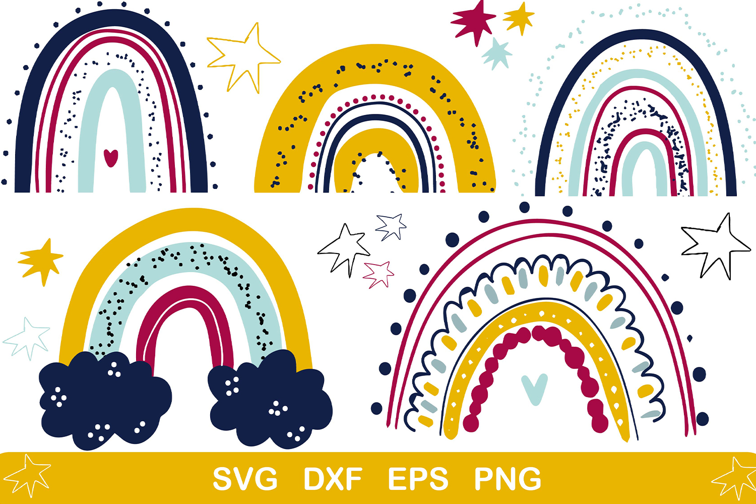 Download Free Rainbow Cute Baby Clipart Graphic By Zolotovaillustrator for Cricut Explore, Silhouette and other cutting machines.