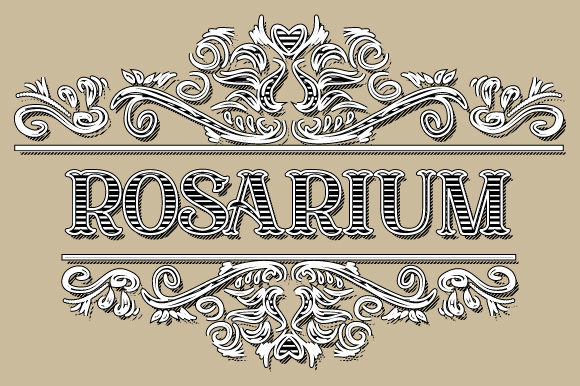 Download Free Rosarium Vintage Ornamental Frame Vector Graphic By Graphicsfarm for Cricut Explore, Silhouette and other cutting machines.