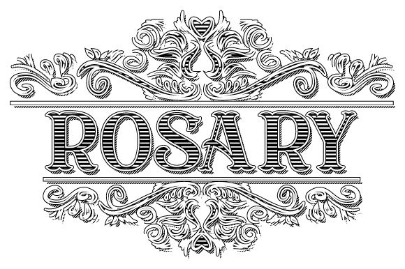 Download Free Rosary Vintage Ornamental Frame Vector Graphic By Graphicsfarm for Cricut Explore, Silhouette and other cutting machines.
