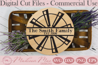 Download Free Split Windmill Monogram Frame Graphic By Madison Mae Designs Creative Fabrica for Cricut Explore, Silhouette and other cutting machines.