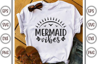 Print on Demand: Summer Beach Design, Mermaid Vibes Graphic Print Templates By GraphicsBooth