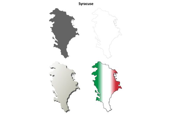 Download Free Syracuse Outline Map Set Graphic By Davidzydd Creative Fabrica for Cricut Explore, Silhouette and other cutting machines.