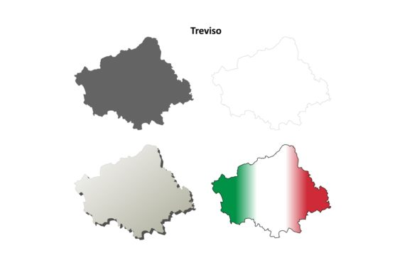 Download Free 1 Treviso Outline Vector Designs Graphics for Cricut Explore, Silhouette and other cutting machines.