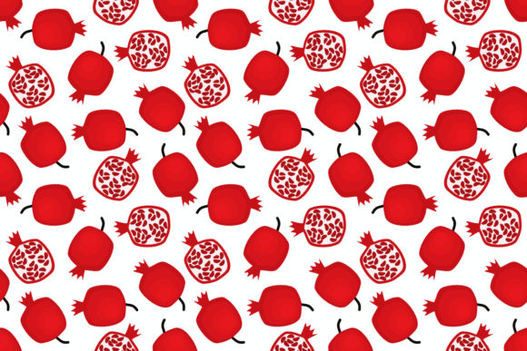 Download Free Tropical Pomegranate Fruit Seamless Graphic By Thanaporn Pinp for Cricut Explore, Silhouette and other cutting machines.