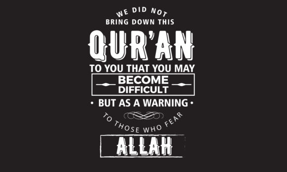 Download Free A Warning To Those Who Fear Allah Graphic By Baraeiji Creative SVG Cut Files