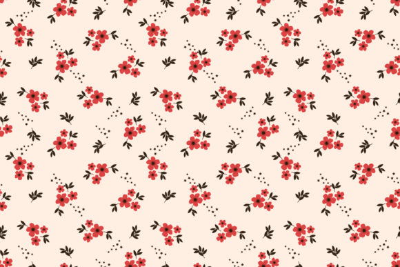 Download Free Tiny Red Flower Seamless Pattern Graphic By Thanaporn Pinp for Cricut Explore, Silhouette and other cutting machines.