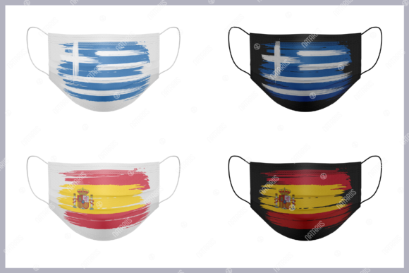 Download Free 10 European Grunge Flags For Face Mask Graphic By Natariis for Cricut Explore, Silhouette and other cutting machines.