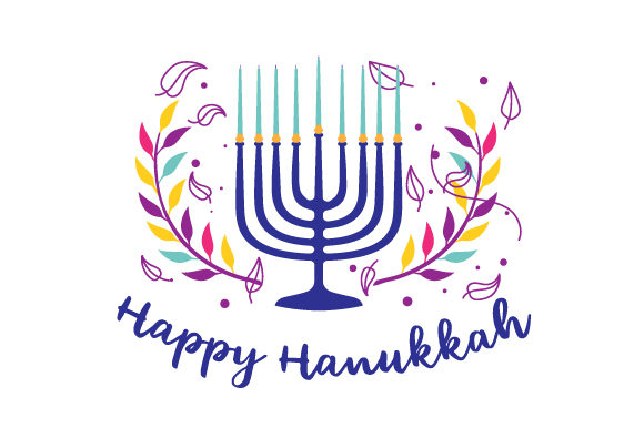 Happy Hanukkah Jewish Craft Cut File By Creative Fabrica Crafts