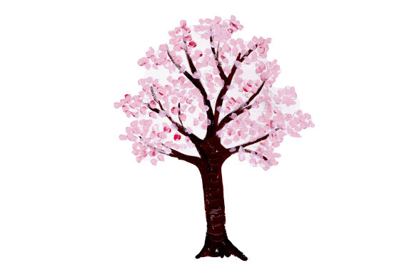 Download Free Cherry Blossom Tree Svg Cut File By Creative Fabrica Crafts for Cricut Explore, Silhouette and other cutting machines.