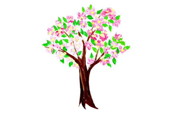 Apple Blossom Tree Svg Cut File By Creative Fabrica Crafts