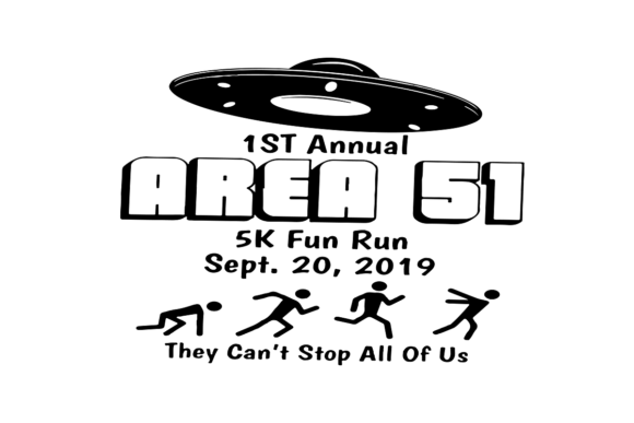 Download Free 1st Annual Area 51 5k Fun Run Graphic By Printvectors Creative for Cricut Explore, Silhouette and other cutting machines.