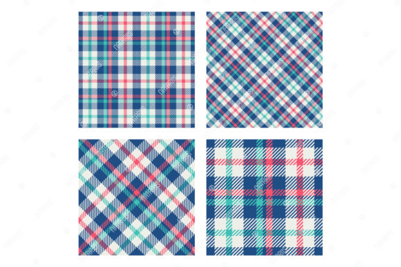 2 Scottish Tartan Seamless Patterns. Graphic Patterns By Natariis Studio