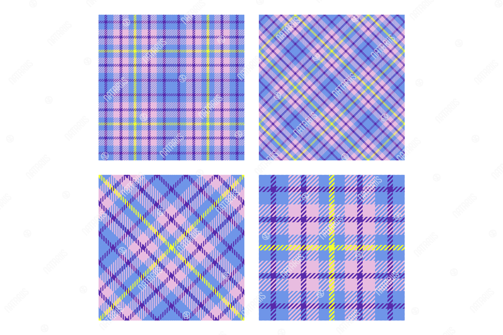 Download Free 2 Scottish Tartan Seamless Patterns Graphic By Natariis Studio for Cricut Explore, Silhouette and other cutting machines.