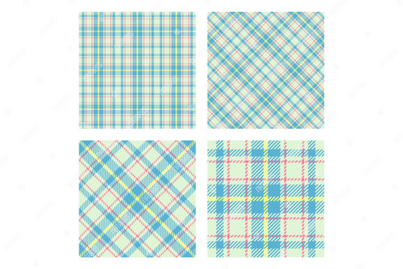 2 Seamless Patterns. Scottish Tartan. Graphic Patterns By Natariis Studio