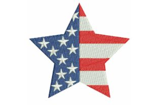 4th July Star 05 Unabhängigkeitstag Stickdesign von BabyNucci Embroidery Designs