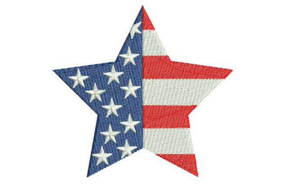 4th July Star 05 Independence Day Embroidery Design By BabyNucci Embroidery Designs