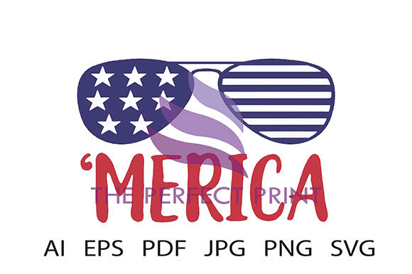 Download Free 4th Of July Merica Patriotic Graphic By Theperfectprintllc for Cricut Explore, Silhouette and other cutting machines.