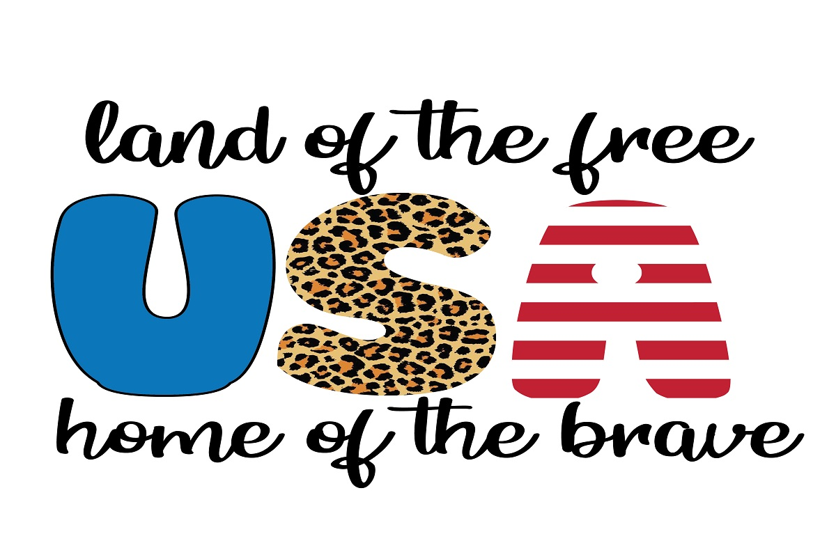 Download Free 4th Of July Leopard Print Graphic By Printvectors Creative for Cricut Explore, Silhouette and other cutting machines.