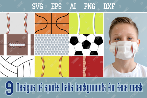 9 Design of Sports Balls Backgrounds Graphic Crafts By Natariis Studio
