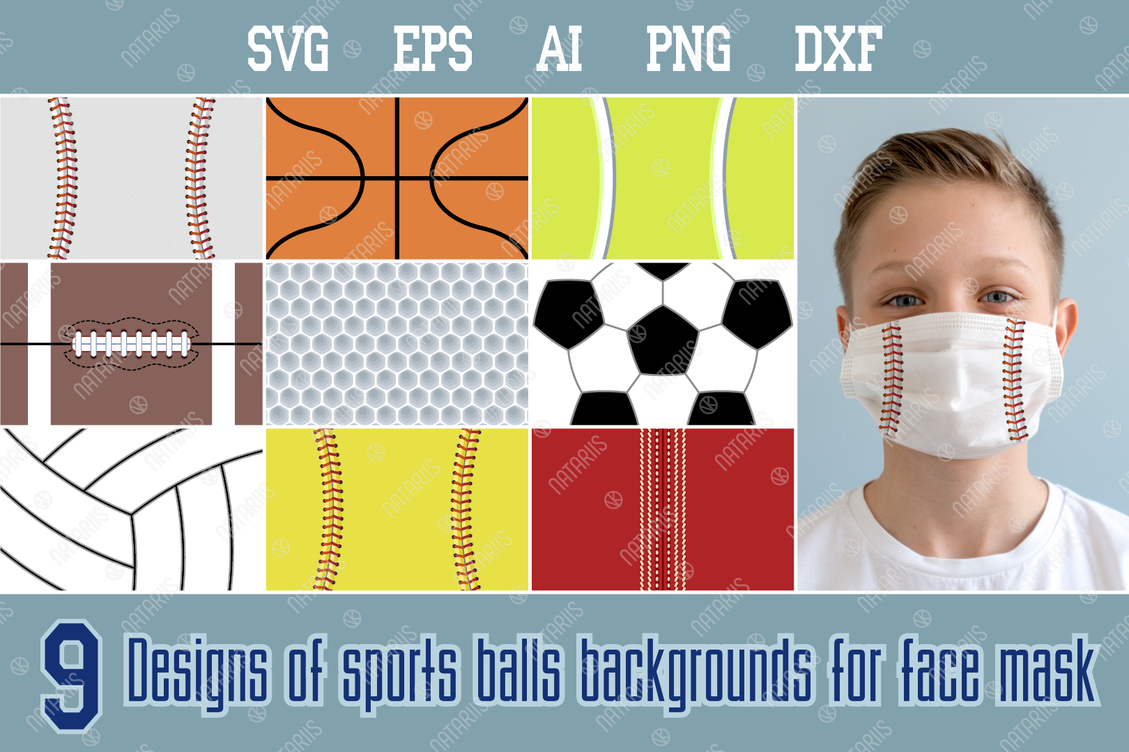 Download Free 9 Design Of Sports Balls Backgrounds Graphic By Natariis Studio Creative Fabrica for Cricut Explore, Silhouette and other cutting machines.