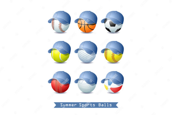 9 Summer Sports Balls. Graphic Objects By Natariis Studio