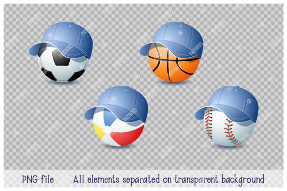 Download Free 9 Summer Sports Balls Graphic By Natariis Studio Creative Fabrica for Cricut Explore, Silhouette and other cutting machines.