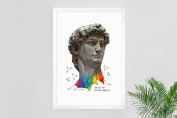 Download Free Abstract Art David By Michelangelo Graphic By Natariis Studio Creative Fabrica for Cricut Explore, Silhouette and other cutting machines.