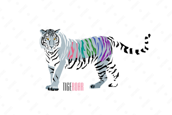 Abstract Illustration of Tiger. Graphic Illustrations By Natariis Studio