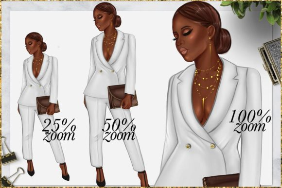Print on Demand: Afro American Girl Clipart Graphic Illustrations By TheGGShop - Image 4