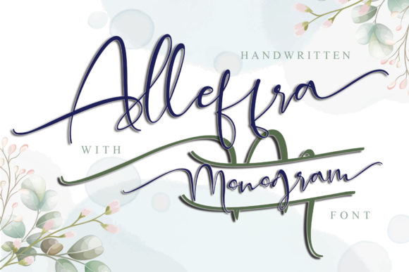 Print on Demand: Alleffra Script & Handwritten Font By thomasaradea