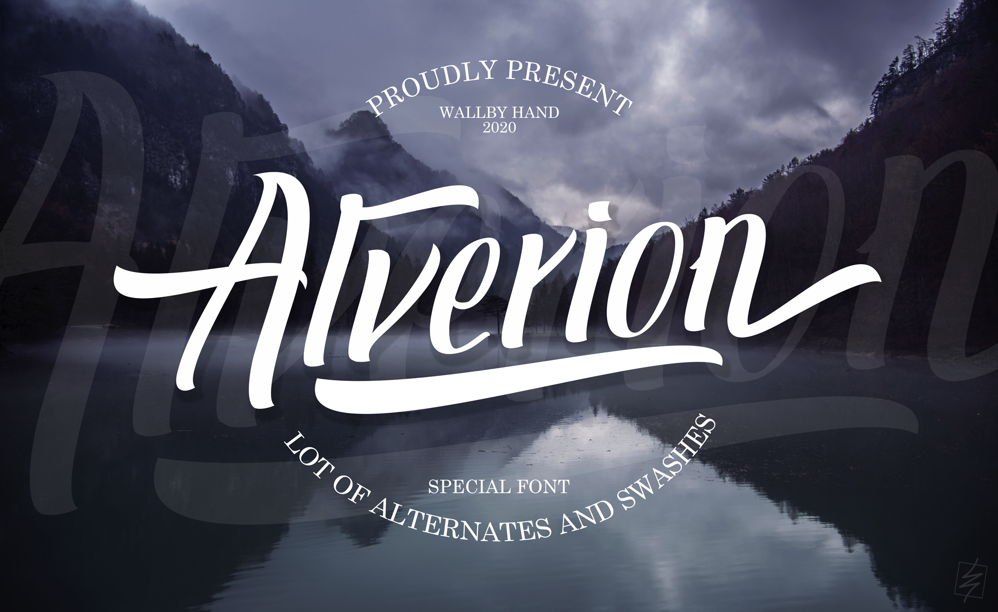 Download Free Alverion Font By Wallby Hand Creative Fabrica for Cricut Explore, Silhouette and other cutting machines.