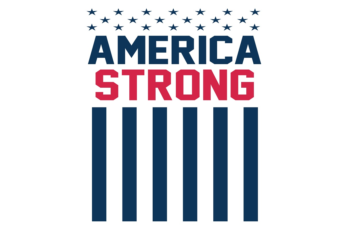 America Strong Flag Graphic By Printvectors Creative Fabrica